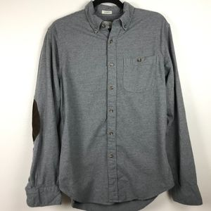 J Crew Brushed Heathered Elbow Patch Shirt